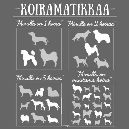 Koiramatikkaa I - Miesten premium t-paita
