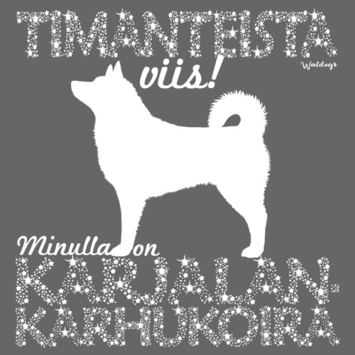Karjalankarhukoira Timantti - Miesten premium t-paita
