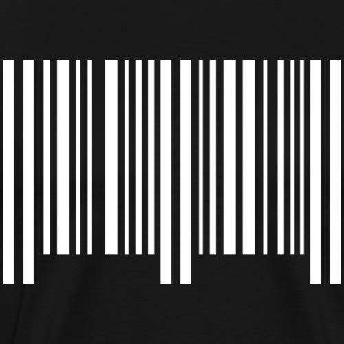 barcode - weiss - Männer Premium T-Shirt