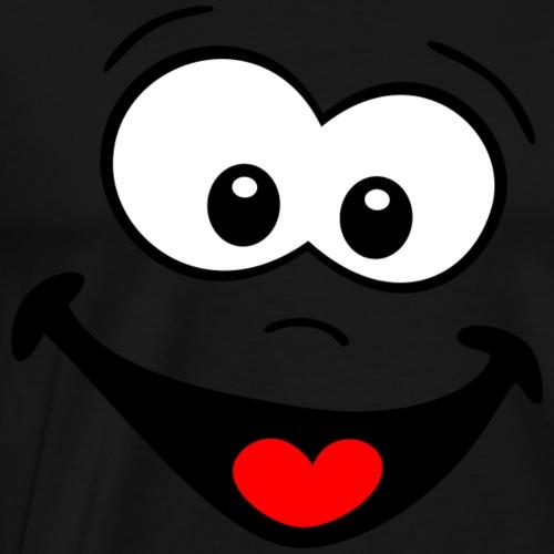 Gesicht lachen - Männer Premium T-Shirt