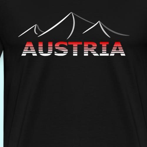 Austria - Österreich Berge T-Shirt - Männer Premium T-Shirt