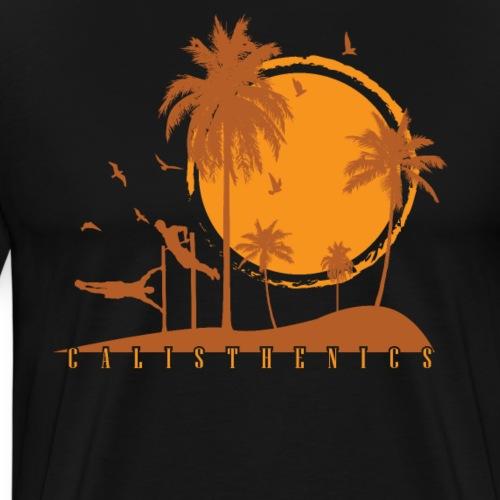 Calisthenics Training Fitness menschliche Flagge - Männer Premium T-Shirt