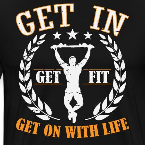 Calisthenics Training Street Fitness Klimmzug - Männer Premium T-Shirt