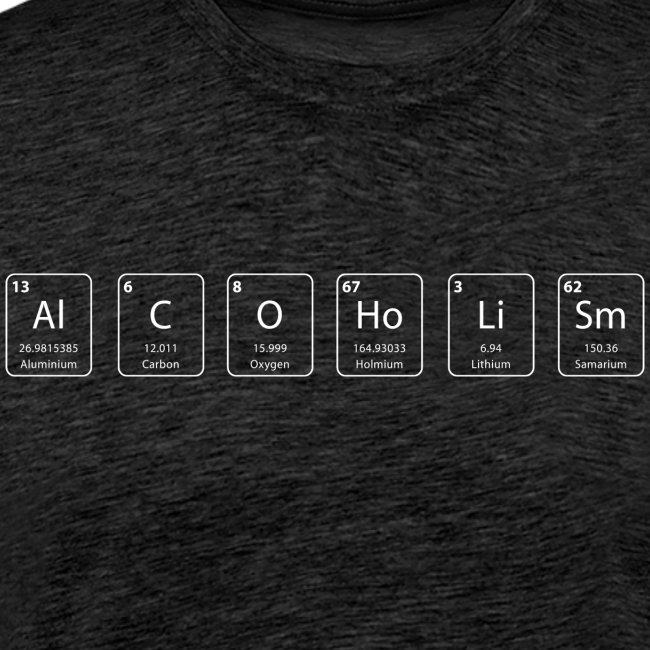 alcoolisme shirt geek