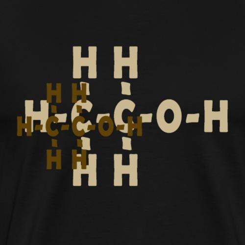 Chemische Formel Alkohol - Männer Premium T-Shirt