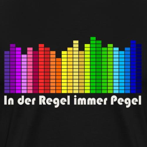 Musik-Pegel - Männer Premium T-Shirt