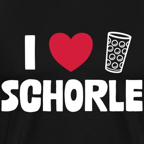 I love Schorle & Dubbeglas - Männer Premium T-Shirt