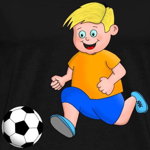 Junger Fußballer - Männer Premium T-Shirt