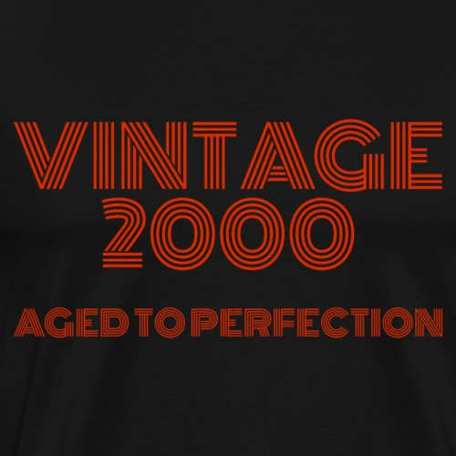 Vintage Pop Art 2000 Birthday. Aged to perfection. - Men's Premium T-Shirt