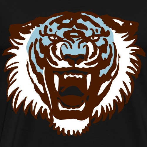 Roaring Tiger Three Colours by Cheerful Madness!! - Men's Premium T-Shirt