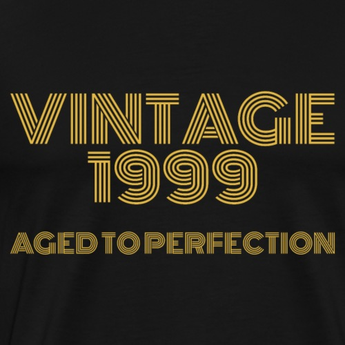 Vintage Pop Art 1999 Birthday. Aged to perfection. - Men's Premium T-Shirt