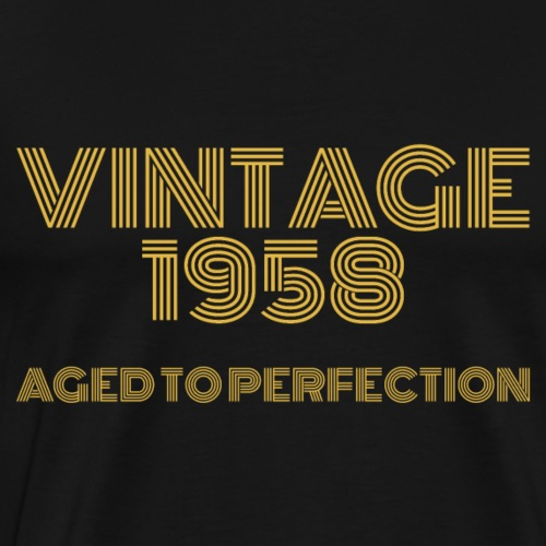 Vintage Pop Art 1958 Birthday. Aged to perfection. - Men's Premium T-Shirt