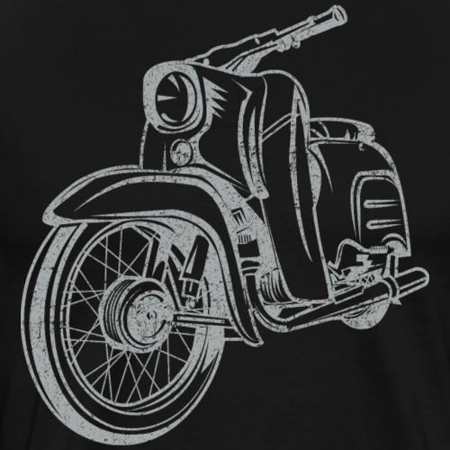 Simson Schwalbe KR51 Vintage Lineart Silhouette - Männer Premium T-Shirt