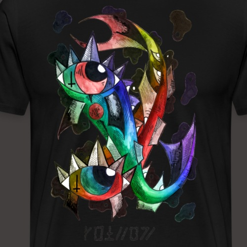 Poisson multi-color - T-shirt Premium Homme