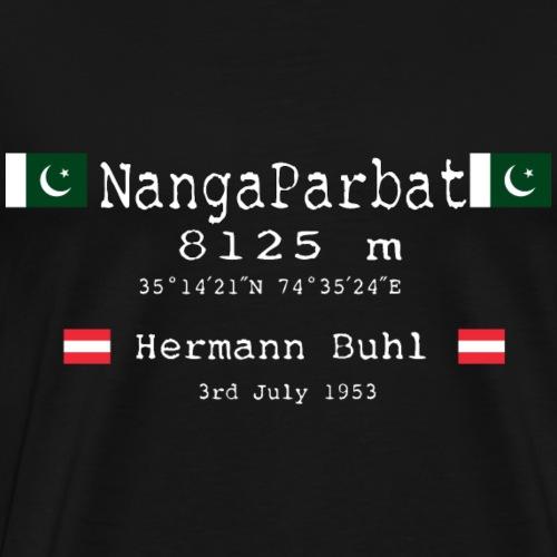 NangaParbat20-01white and the first climbers - Maglietta Premium da uomo