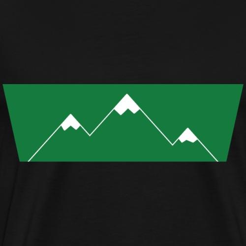 Bergshirt Green Logo - Männer Premium T-Shirt