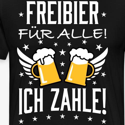 114 Freibier für alle ich zahle Bier Prost - Männer Premium T-Shirt