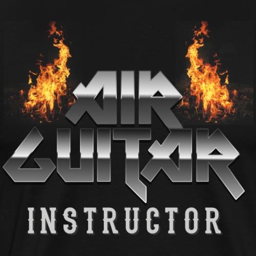 Air Guitar Instructor Heavy Metal T Shirt - Männer Premium T-Shirt