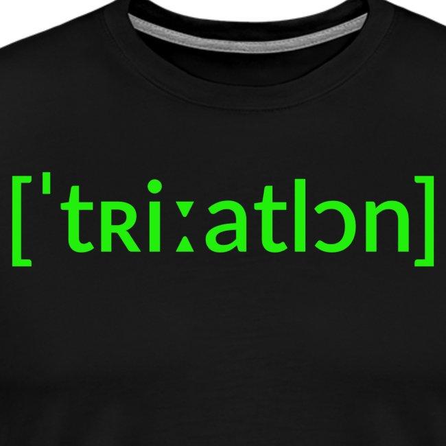 Triathlon Lautschrift Black Edition