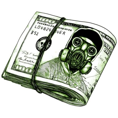 Dólar de máscara de gas - Camiseta premium hombre