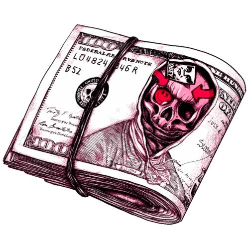 Dólar del cráneo - Camiseta premium hombre