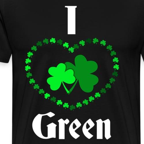 I love Green - Männer Premium T-Shirt