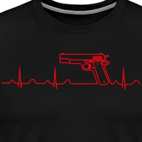 Colt Pistole 45ACP Heartbeat rot - Männer Premium T-Shirt