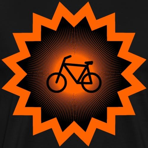 Fahrrad Flicken mit Fahrrad Symbol Shirt Geschenk - Männer Premium T-Shirt