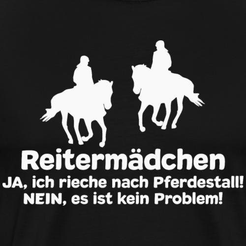 Reitermädchen Reiten Pferde Pferdespruch - Männer Premium T-Shirt