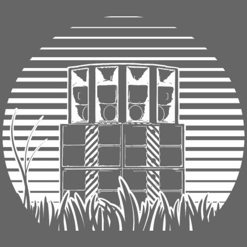 SOUND SYSTEM STRIPE SLOPE TEKNO 23 - Koszulka męska Premium