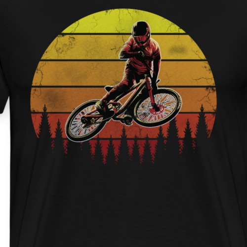 Mountainbike MTB Mountainbiker Mountainbikerin - Männer Premium T-Shirt