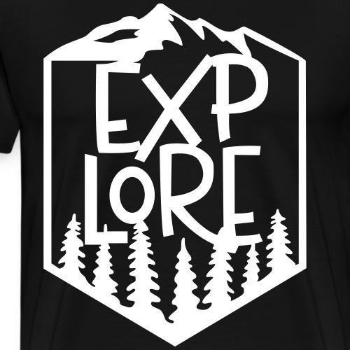 Explore - Mannen Premium T-shirt