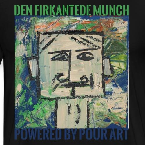 Den firkantede Munch - Herre premium T-shirt
