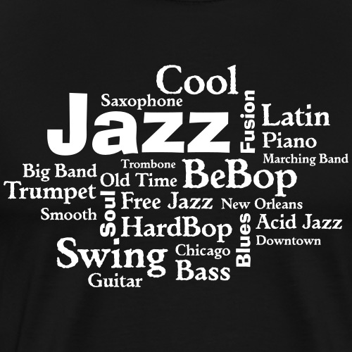 jazztagcloud - Männer Premium T-Shirt