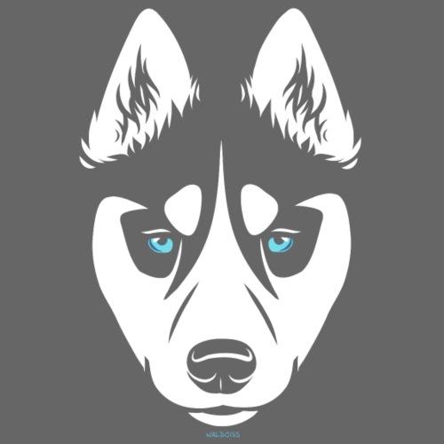 Siberian Husky Mask - Miesten premium t-paita