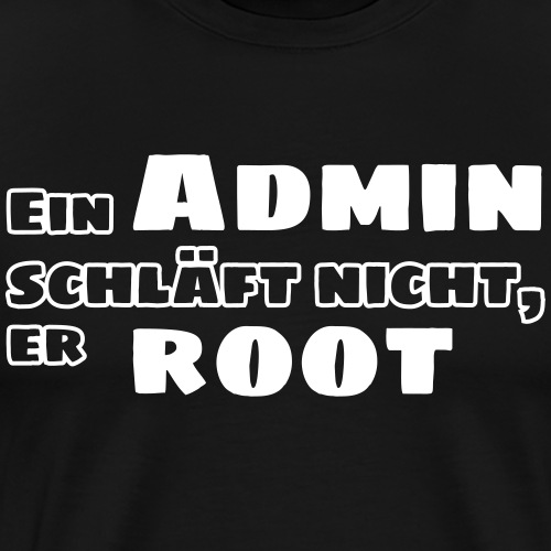 admin root - Männer Premium T-Shirt