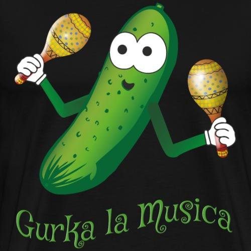 Gurka la Musica Viva la Musica Gurke mit Rasseln - Männer Premium T-Shirt