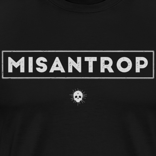 Misantrop - Ljusgrå - Premium-T-shirt herr