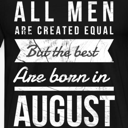 verjaardag shirt augustus - Mannen Premium T-shirt