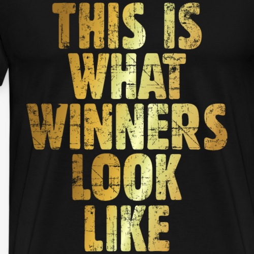 This is what Winners look like Gewinner (Gold) - Männer Premium T-Shirt