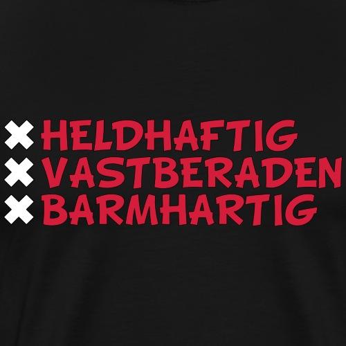 Heldhaftig vastberaden barmhartig - Mannen Premium T-shirt