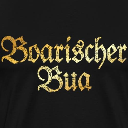 Boarischer Bua - Bayerischer Bube (Goldgelb) - Männer Premium T-Shirt