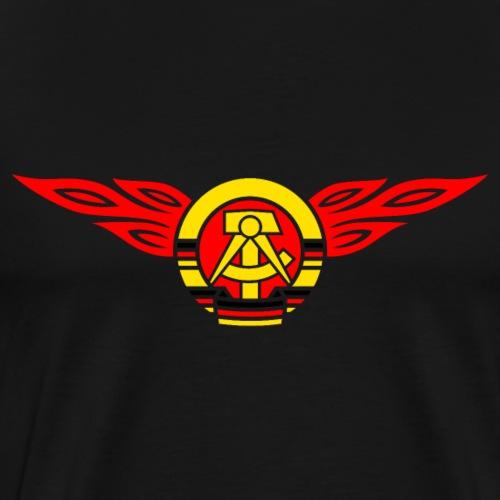GDR flames crest 3c - Men's Premium T-Shirt