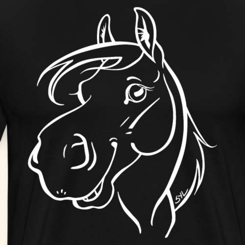 Cheval Coquin 14 (blanc) - T-shirt Premium Homme