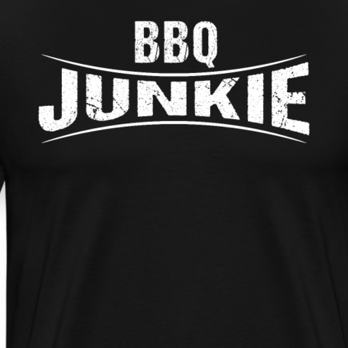 BBQ Junkie Barbeque Logo - Männer Premium T-Shirt