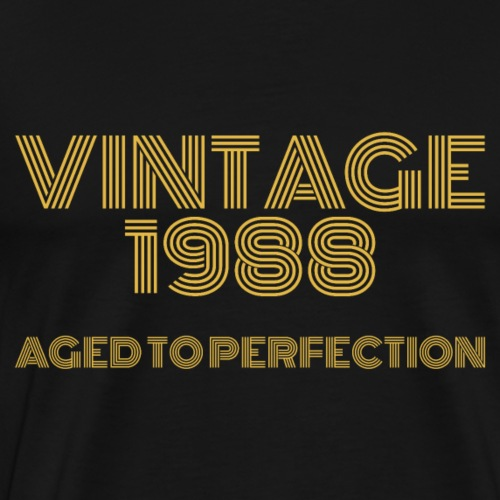 Vintage Pop Art 1988 Birthday. Aged to perfection. - Men's Premium T-Shirt