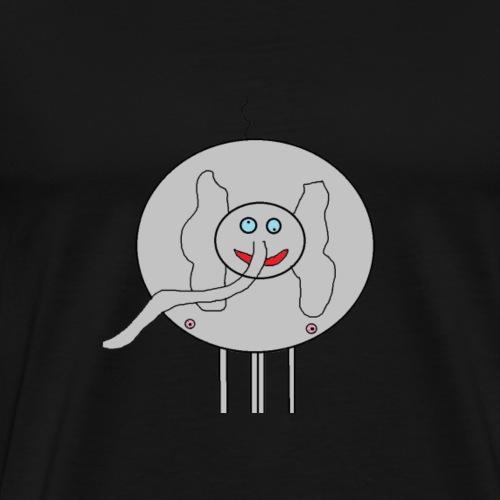 3000x2000 elephant png - Men's Premium T-Shirt