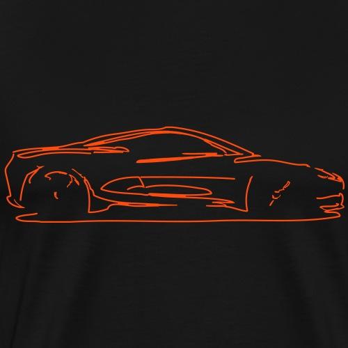 car sketch - Men's Premium T-Shirt