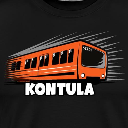 06-KONTULA HELSINKI tekstiili- ja lahjatuotteet - Miesten premium t-paita