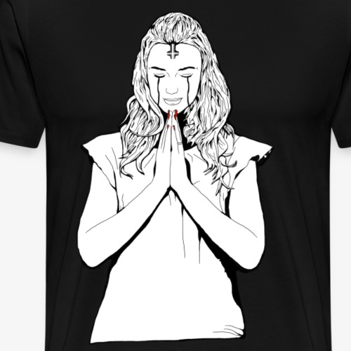 Praying Dame - Men's Premium T-Shirt